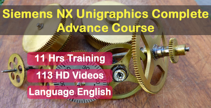 Siemens NX Unigraphics 9 online course English